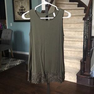Xhilaration size small tank top with lace detail.